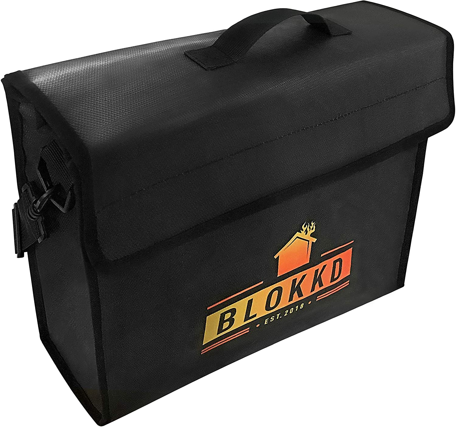 BLOKKD Fireproof Document Bags - Fire Safe Lock Box Bag
