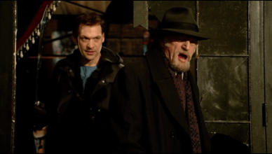 David Bradley and Corey Stoll in the Strain