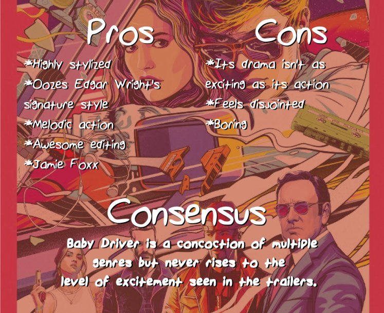 Baby Driver consensus