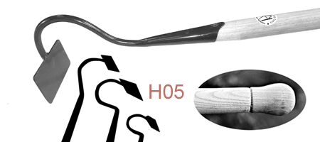HO5 Long Swan-Necked Draw Hoe