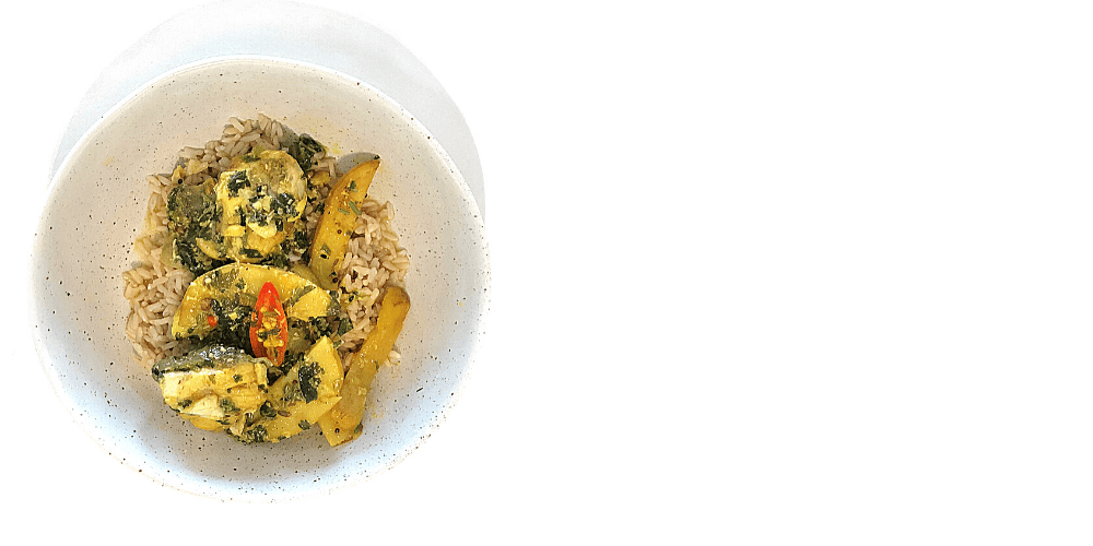 Barramundi fish curry