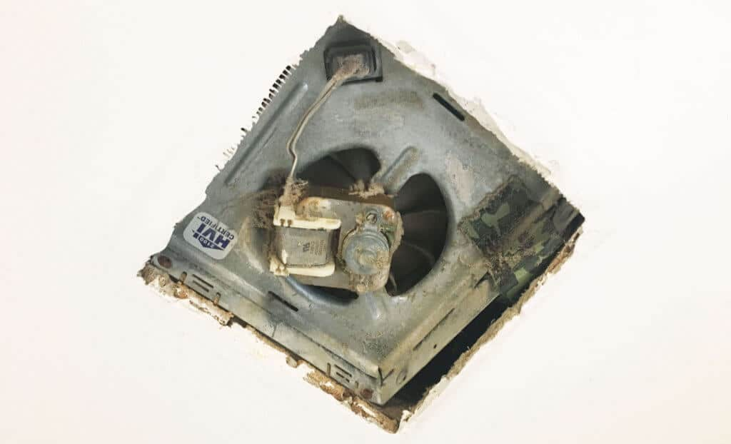 upgrading a bathroom exhaust fan with