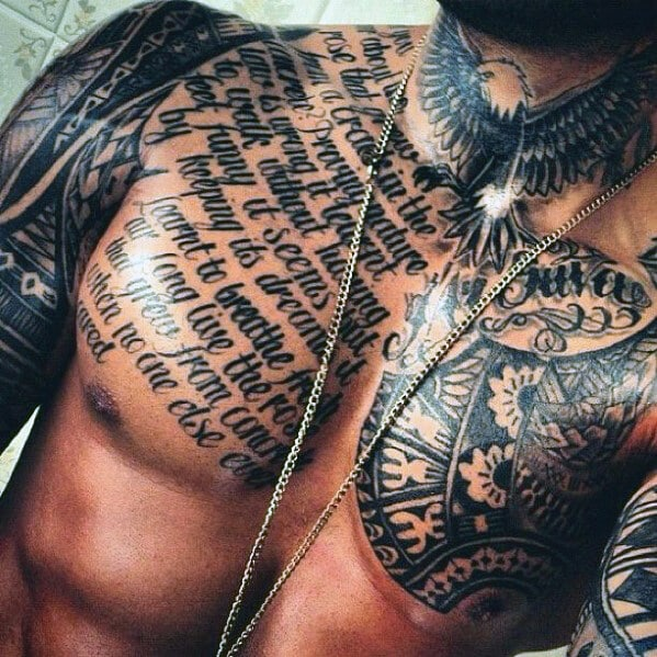 Best Simple Chest Tattoos For Men