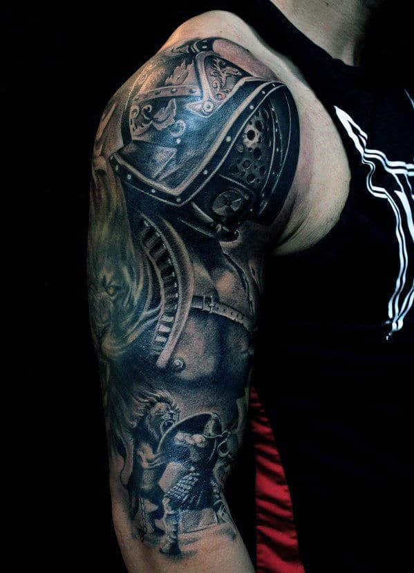 Simple Small Upper Arm Tattoos For Guys