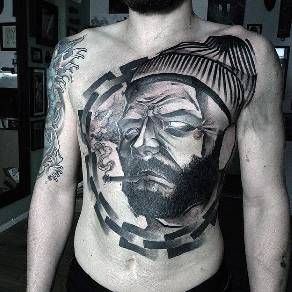 Male Stomach Tattoo Designs