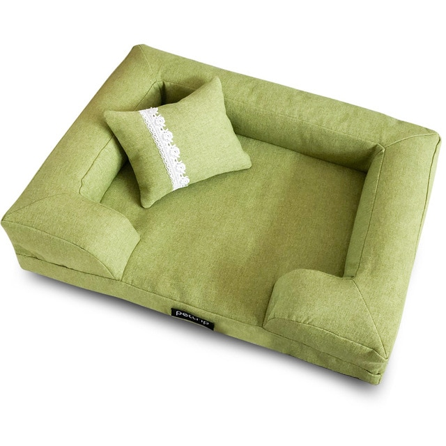 elegant pet sofa bed with pillow