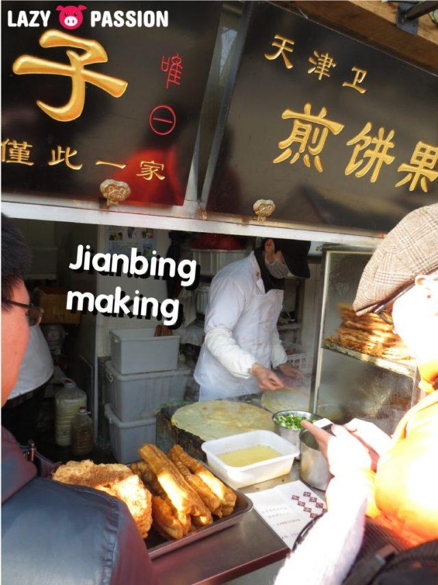 Jianbing preparation