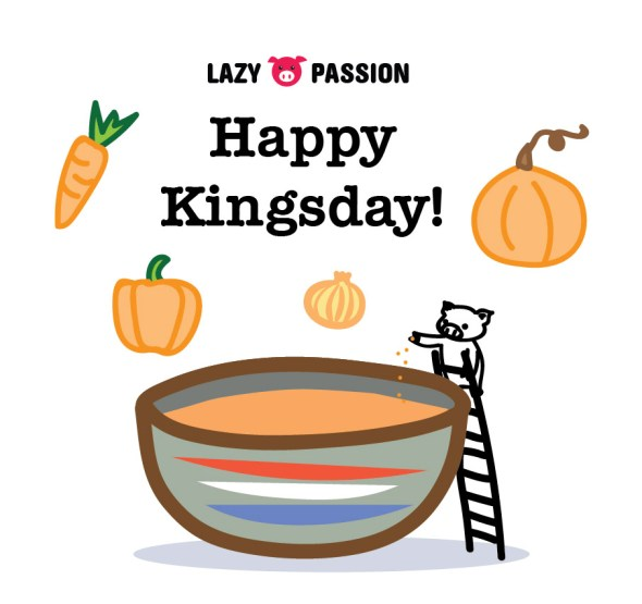 Happy Kingsday orange food