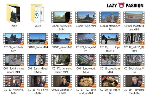 naming videos in File explorer