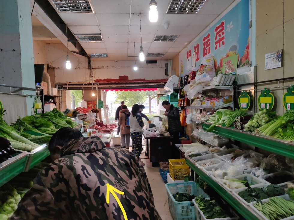 Vegetable store in China