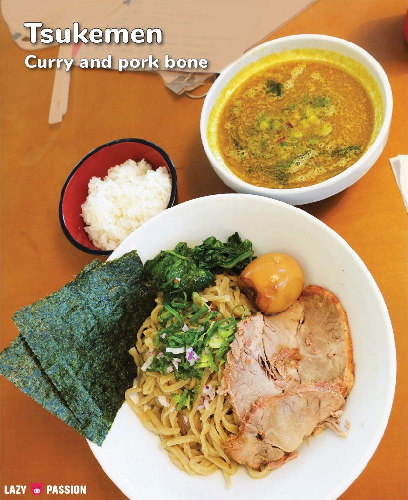 curry pork bone soup tsukemen Yokohama Ramen saitou