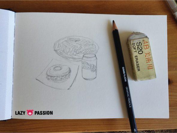 Drawing sketch menu set