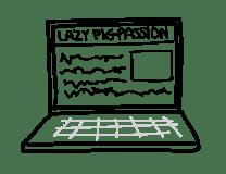 blog website laptop