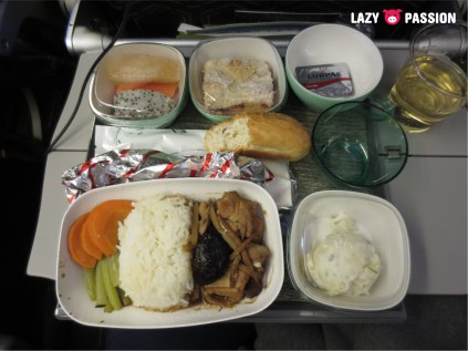 Quite good airplane food from Eva Air