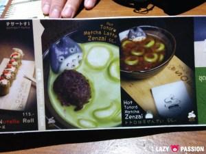 Totoro menu
