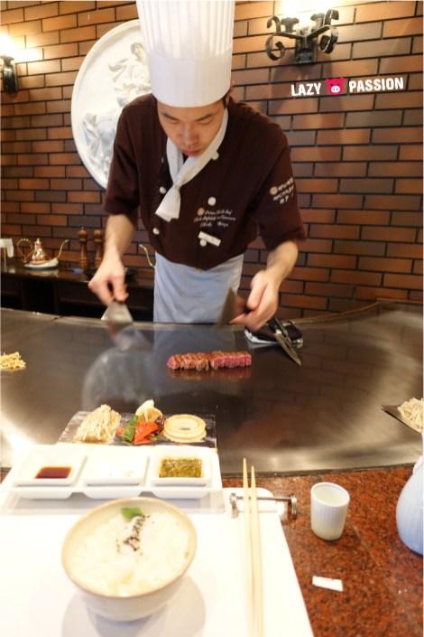 Kobe beef chef