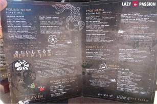 Miyagi and Jones Utrecht menu 2018