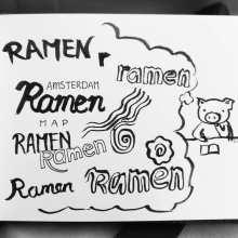 ramen ramen lettering