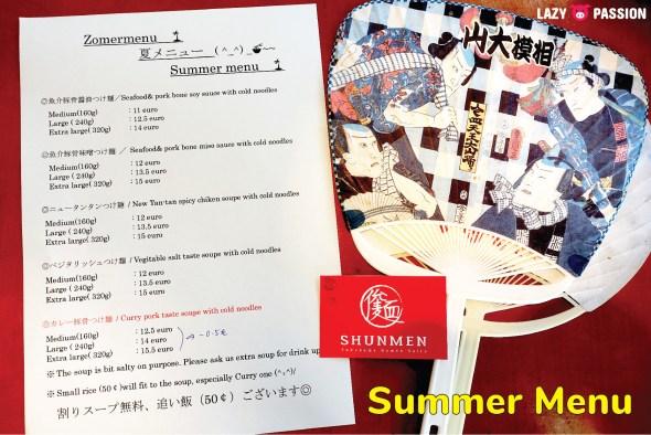 tsukemen Yokohama Ramen saitou Summer menu 2019