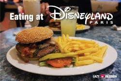 Eating at Disneyland Annette's Diner burger