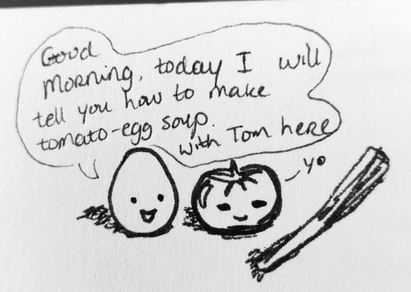 tom and egg