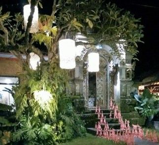 A house's entrance in Ubud, Bali