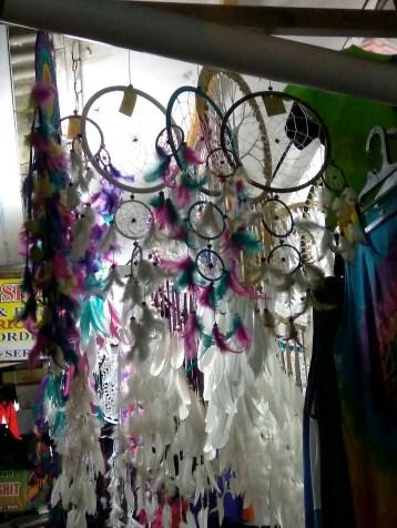 Dream catchers in a shop