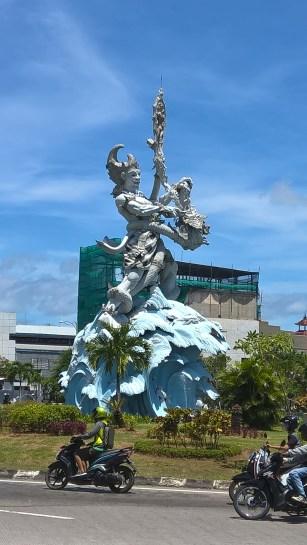 A large statue of 'Bhima', a Mahabharatha character