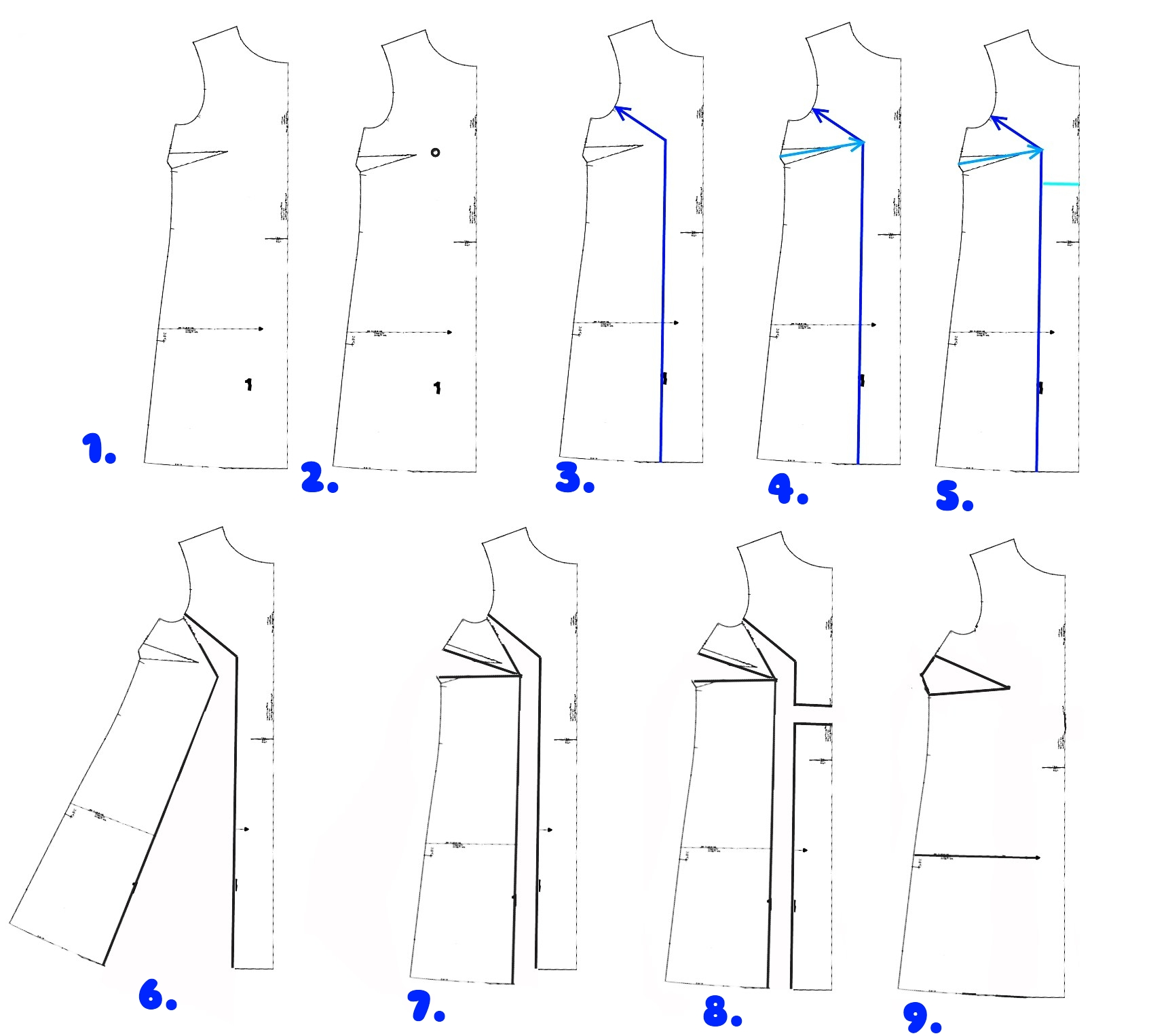 Dress Cutting Pattern