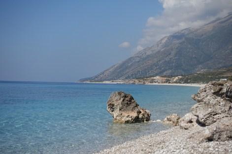 Albania, plaża Dhermi