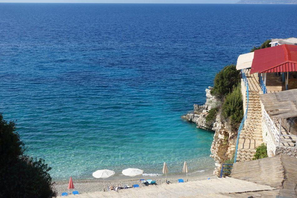 Albania, Saranda plaża, plaża koło Sarandy, piękna plaża