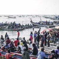 Senegal - port i targ rybny w M'bour