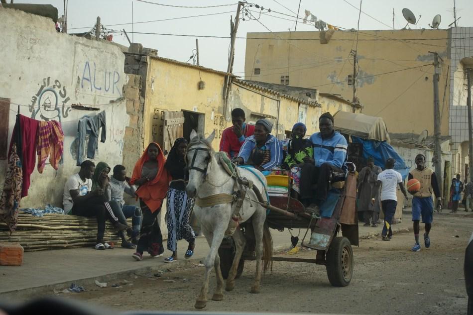 Senegal - ulica w Sain Louis