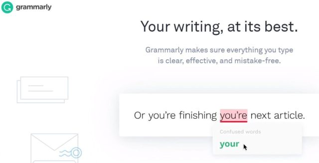 Grammarly - tools used in content writing