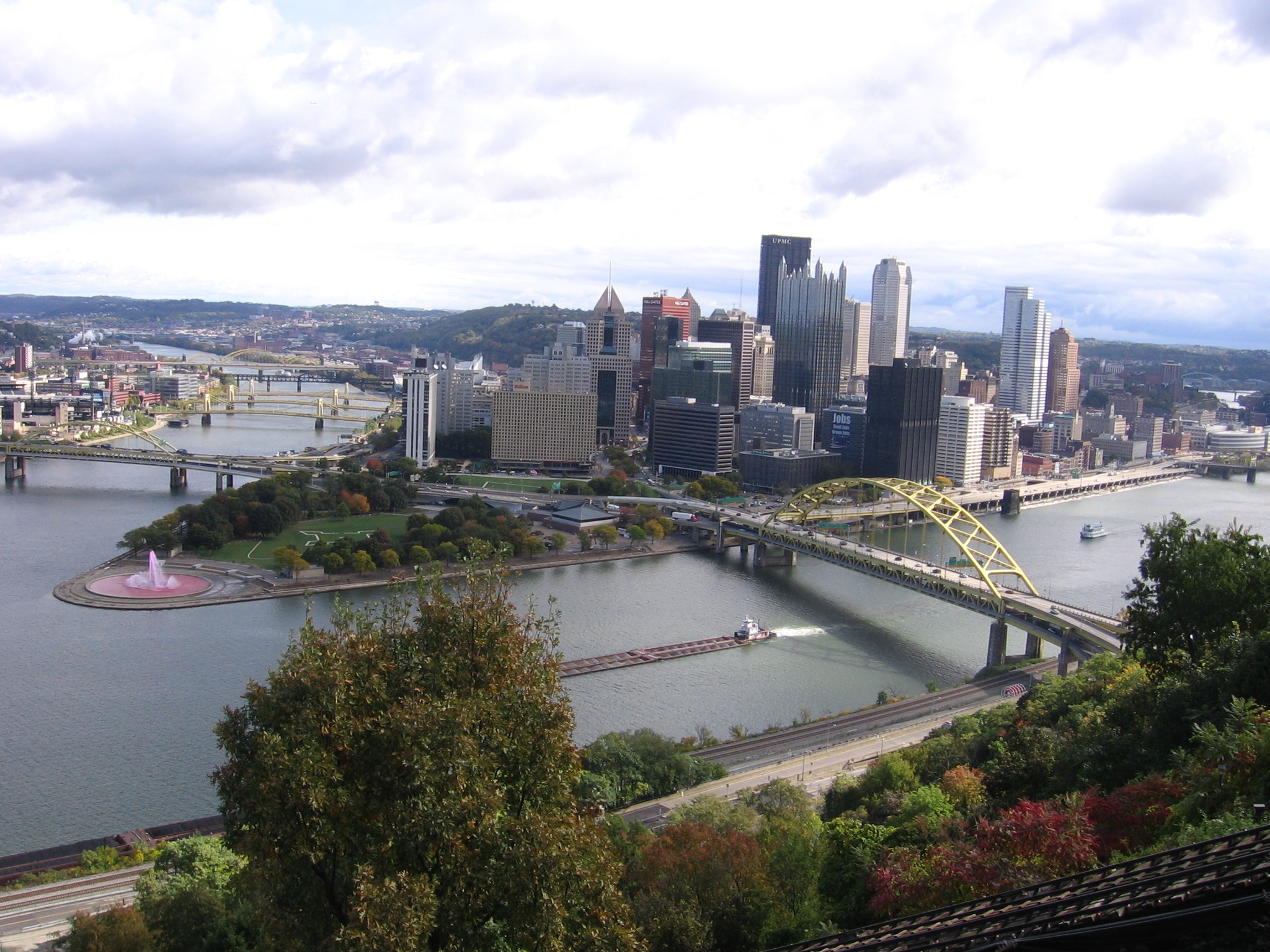 From the top of the Incline: Pittsburgh's Rivers