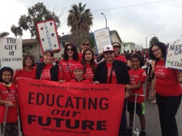 LBCC faculty and families at the MLK day parade in Long Beach, CA on January 12th