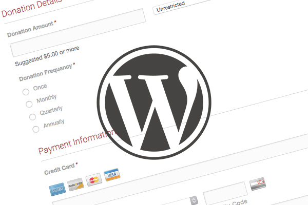 Accept Online Donations with WordPress + Gravity Forms