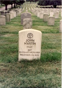 Martin's original gravestone at Cypress Hills Cemetery in Brooklyn, New York. It is now used as his footstone. (Chuck Merkel Photo)