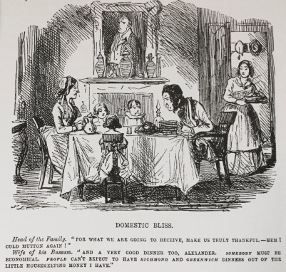 Scene from 'Domestic Bliss' by John Leech