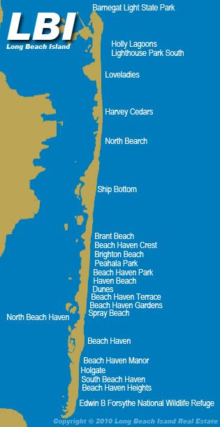 Map of Long Beach Island, NJ | Custom maps | Bank and Surf