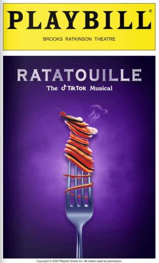 Livret de Ratatouille, the TikTok musical