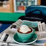 café viennois sur des journaux