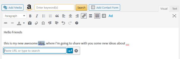 Adding link destination in WordPress