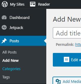 Adding new category inside WordPress