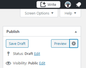 Preview mode in WordPress