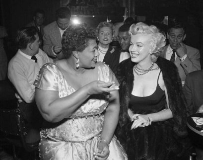 Ella Fitzgerald with friend Marilyn Monroe