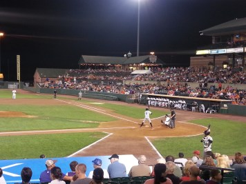 Ironbirds gain 4 runs in the top of the 7th inning.