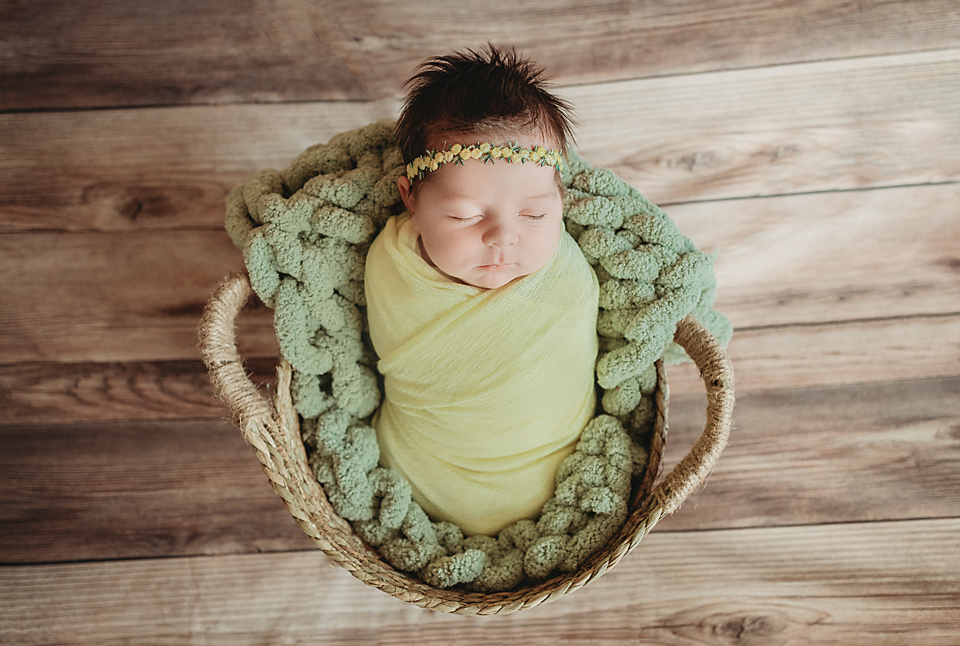 Newborn baby for newborn photo session with photographer Tampa Florida