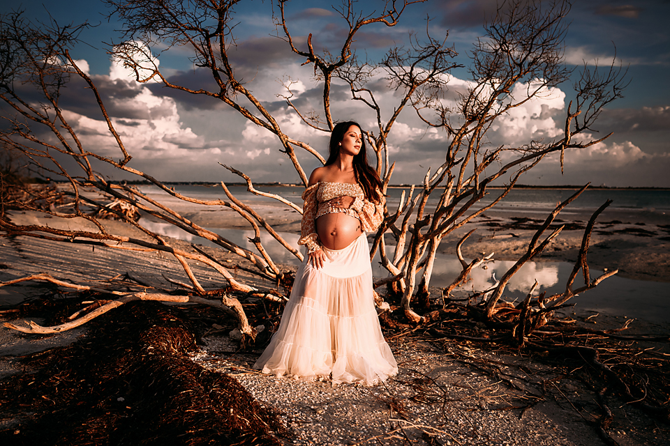 Pregnancy photos for a maternity photo session in Tampa, Florida by Tampa Maternity photographer