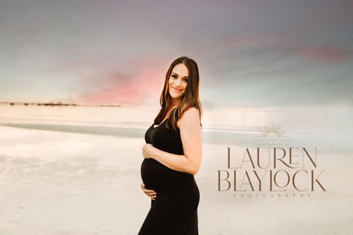 maternity photographer tampa at fort desoto